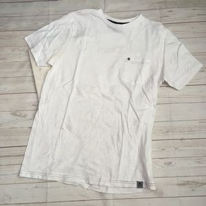 free planet mens s white pocket tee casual 100% co